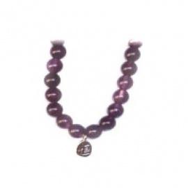 Bracelet perles ETERNiTE (恒) en AMéThYSTE 6mm
