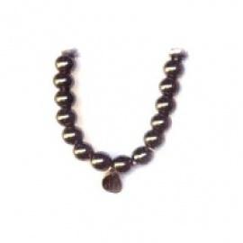 Bracelet perles ETERNiTE (恒) en HéMATiTE 6mm