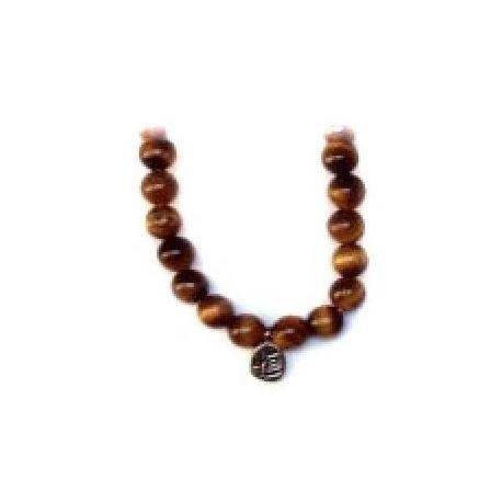 Bracelet perles ETERNiTE (恒) en OEiL de TiGRE 6mm