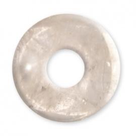 Pendentif Pi ou DONUT en cristal de roche (d3cm)