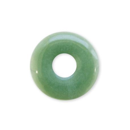 Pendentif Pi ou DONUT en jade aventurine (d3cm)