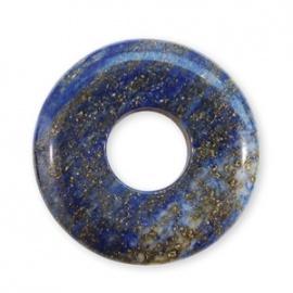 Pendentif Pi ou DONUT en sodalite (d3cm)