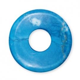 Pendentif Pi ou DONUT en turkénite teintée (d3cm)