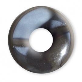 Pendentif Pi ou DONUT en hématite (d2.5cm)