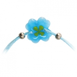 Bracelet ajustable TRèFLE VéRiTAbLE trèfle bleu