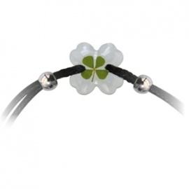 Bracelet ajustable TRèFLE VéRiTAbLE trèfle noir