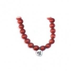 Bracelet perles ETERNiTE (恒) en JASPE ROUGE 6mm