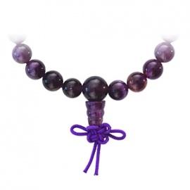Bracelet mala en AMéThYSTE perles 8mm
