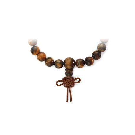 Bracelet mala en OEiL de TiGRE perles 8mm noeud