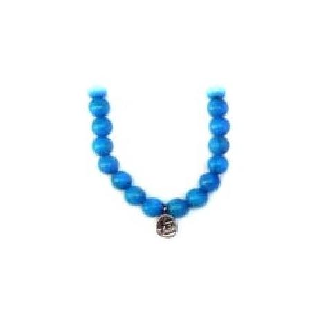 Bracelet perles ETERNiTE (恒) en TURKéNiTE teintée 6mm