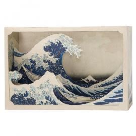 Tatebanko La Grande Vague de Kanagawa (Hokusai)