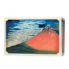 Tatebanko Le Fuji Rouge (Hokusai)