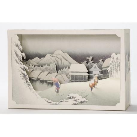 Tatebanko Soir d'Hiver au Japon (Hiroshige)
