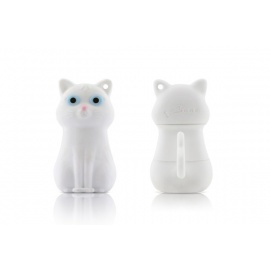 Clé USB silicone ChAT BLANC (8Go)