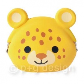 Porte-monnaie mimi POCHi Friends ChEETAh ヒョウ en silicone