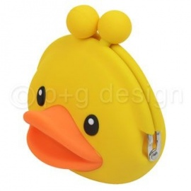 Porte-monnaie mimi POCHi Friends 3D DUCK YELLOW en silicone