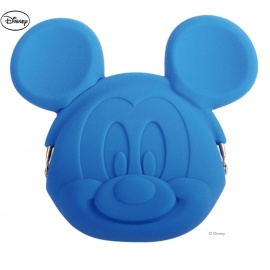 Porte-monnaie POCHi Disney MiCKEY bleu en silicone