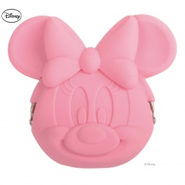 Porte-monnaie POCHi Disney MiNNiE rose en silicone