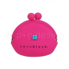 Porte-monnaie POCHi nanoblock magenta en silicone