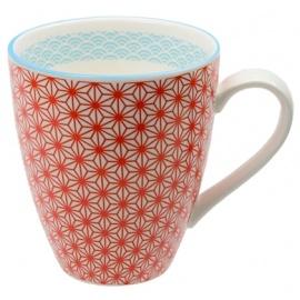 Mug STARWAVE rouge en porcelaine