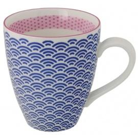 Mug STARWAVE bleu en porcelaine
