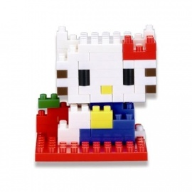 nanoblock mini HELLO KiTTY bleu