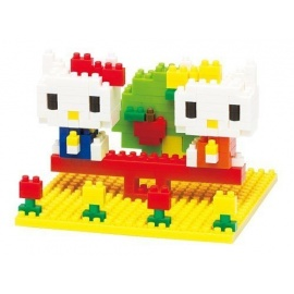 nanoblock monument KiTTY & MiMMY NAKAYOShi