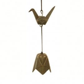 Carillon à vent japonais en fonte ORiGAMI