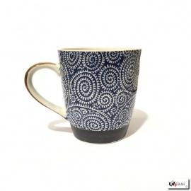 Mug KARAKUSA bleu en porcelaine japonaise