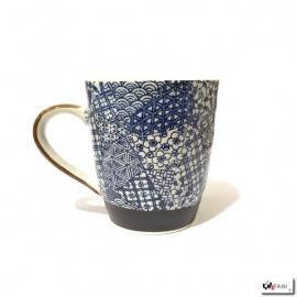 Mug PATChWORK bleu en porcelaine japonaise