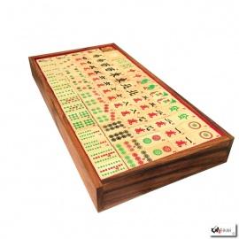 Mah-Jongg et coffret en bois