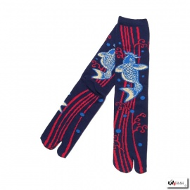 Chaussettes à orteil japonaises KOi bleu marine (extensible t39 à t44)