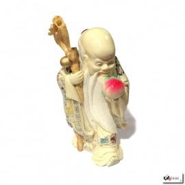 Dieu de la longévité en ivoirine (h25cm)