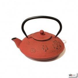 Théière en fonte chinoise FLEURS de PRUNiER 0.80L rouge