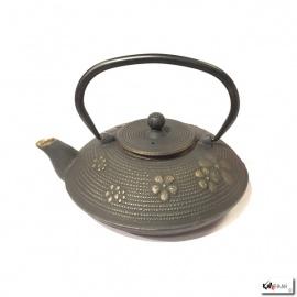 Théière en fonte chinoise FLEURS de PRUNiER 0.80L noir