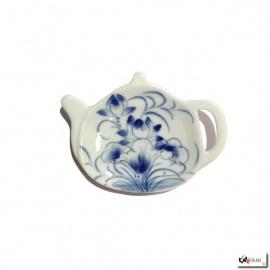 Repose filtre ou sachet de thé en porcelaine peinte à la main SAYUN
