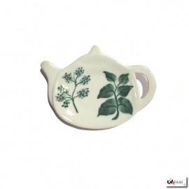 Repose filtre ou sachet de thé en porcelaine peinte à la main HiME