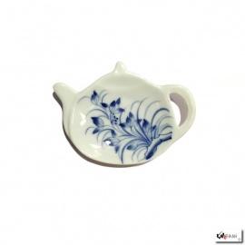 Repose filtre ou sachet de thé en porcelaine peinte à la main HANAE