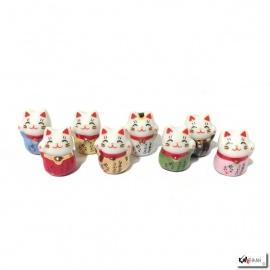 Maneki Neko MiNi MiNi en porcelaine japonaise (h1.8cm)