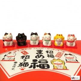 Maneki Neko MiNi en porcelaine japonaise (h2.4cm)