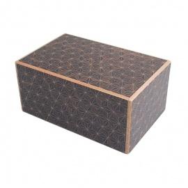 Boîte à secret (Himitsu-bako ~ ひみつ箱) 5 sun (15.2cm) ouverture en 21+1 étapes, motif KURO-ASA