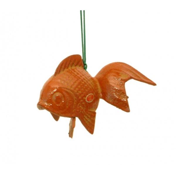 carillon vent japonais fuurin en fonte poisson rouge kim thanh. Black Bedroom Furniture Sets. Home Design Ideas