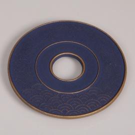 Sous-plat en fonte japonaise VAGUE 14cm bleu-violet
