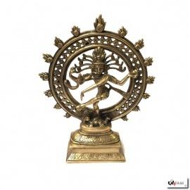 Shiva Nataradja en laiton (h22cm)