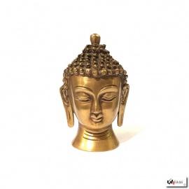 Tête de Bouddha en laiton (h11cm)