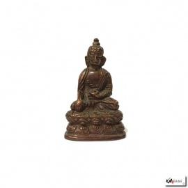 Bouddha ShAKYAMUNi en laiton bronze (h5.5cm)