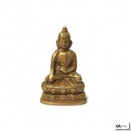 Bouddha ShAKYAMUNi en laiton doré (h5.5cm)
