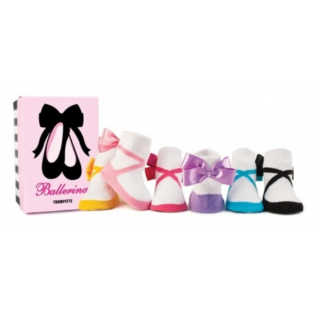 6 chaussettes pour bébé assortis BALLERINA (0 à 12 mois)
