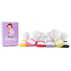 6 chaussettes pour bébé assortis JiTTERBUG JENNY (0 à 12 mois)