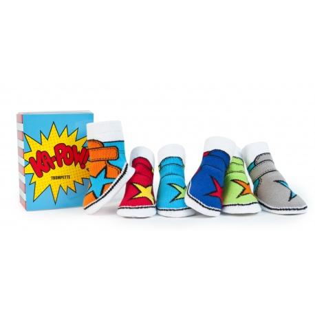 6 chaussettes pour bébé assortis KA-POW (0 à 12 mois)